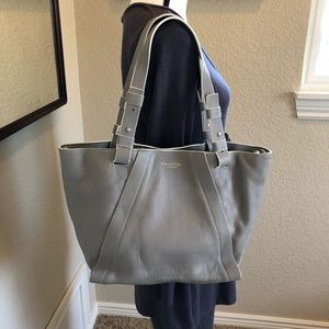 Halston Heritage Gray Leather Tote-NWOT